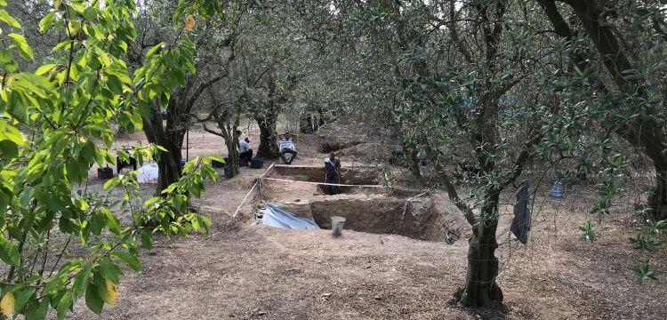 İznik Hisardere'de bu kez lahitsiz geç Roma dönemi mezarı bulundu