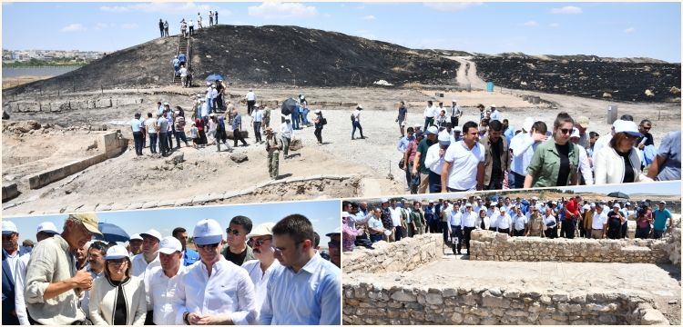 Karkamış Antik Kenti Arkeopark'ı basın mensuplarına tanıtıldı