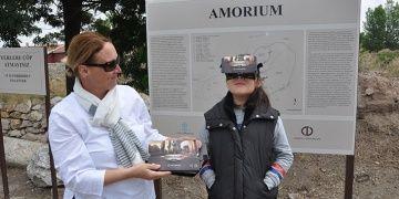 Amorıum Antik Kenti artık sanal gerçeklik gözlüğüyle gezilebiliyor