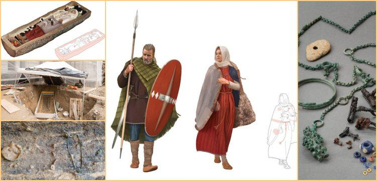 Portraits of the Celts from Kernstrasse in Zurich