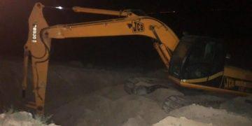 Konyada arkeolojik sit alanını kepçeyle kazan 6 defineci yakalandı