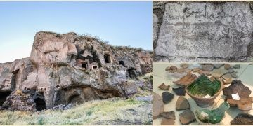 Ceramic pottery from Karaz Culture found in Ahlat