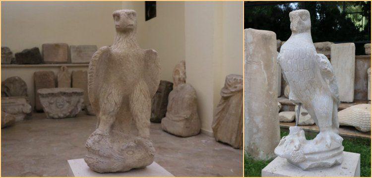 Kınık Höyük'te 2 bin yıllık kartal heykelleri bulundu
