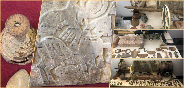 Tekirdağ'da 4 kişi müze açmaya yetecek kadar tarihi eserle yakalandı