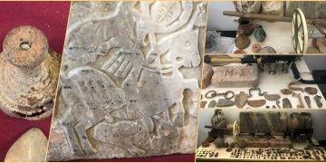Tekirdağda 4 kişi müze açmaya yetecek kadar tarihi eserle yakalandı