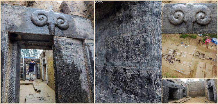 Çin'de Han Hanedanlığına ait koç başlı anıt mezarlıklar bulundu