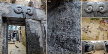 Çinde Han Hanedanlığına ait koç başlı anıt mezarlıklar bulundu