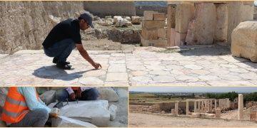 Tripolis Antik Kenti kazılarında 32 metrelik anıt çeşme bulundu