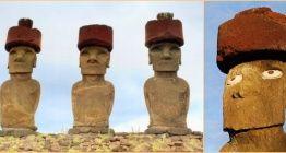 Dev Moai Heykellerinin 13 tonluk şapkaları nasıl takıldı?