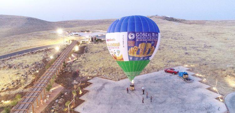 Göbeklitepe'de balon uçuşları için ilk deneme yapıldı