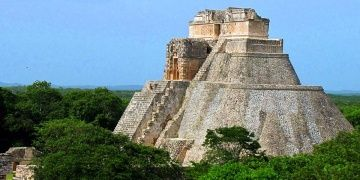 A wall found surrounding the Ancient Mayan city of Uxmal