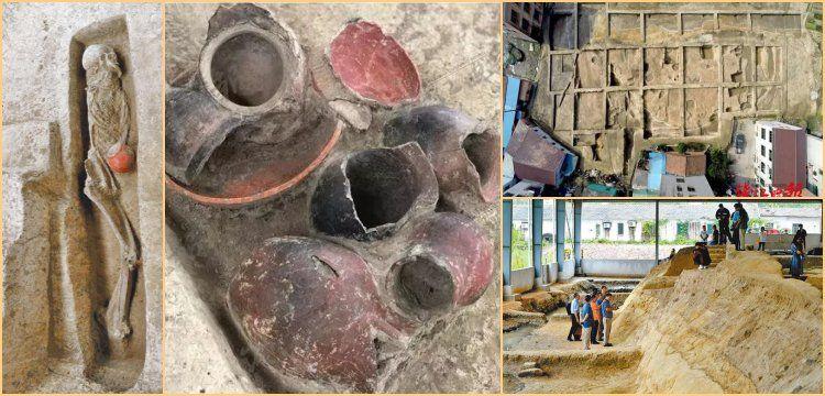 Çin'in Zhejiang şehrinde 9.000 yıllık dairesel yerleşim alanı keşfedildi