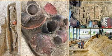 Çinin Zhejiang şehrinde 9.000 yıllık dairesel yerleşim alanı keşfedildi