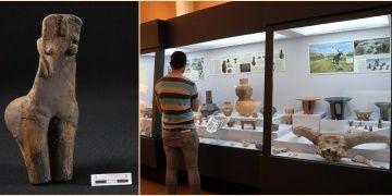 Kırklareli Müzesindeki sıradışı Ana Tanrıça yoğun ilgi görüyor