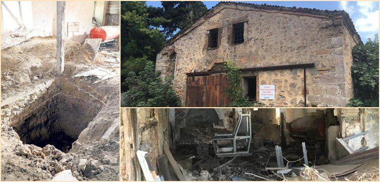 Defineciler Sarıyer'deki kilise binasını delik deşik ettiler