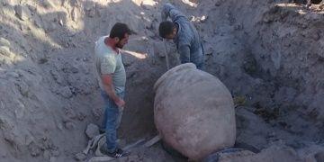 Konyada bir inşaat kazısı sırasında dev küp bulundu