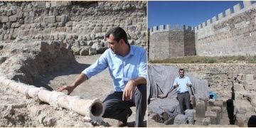 Erzurum Kalesinde 8 yüzyıllık atık su tesisatı bulundu