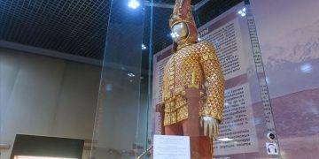 Man in golden dress is on display in Ankara museum