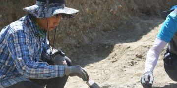 Çorumdaki arkeoloji kazılarında Güney Koreli öğrenciler de çalışıyor