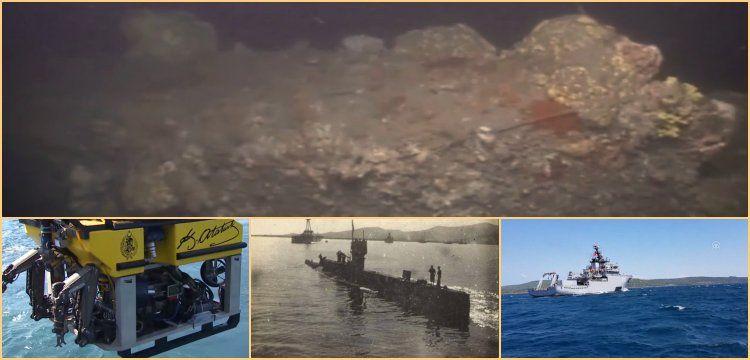 Marmara'ya sızmayı başaran İngiliz denizaltısı E7'nin batığı görüntülendi