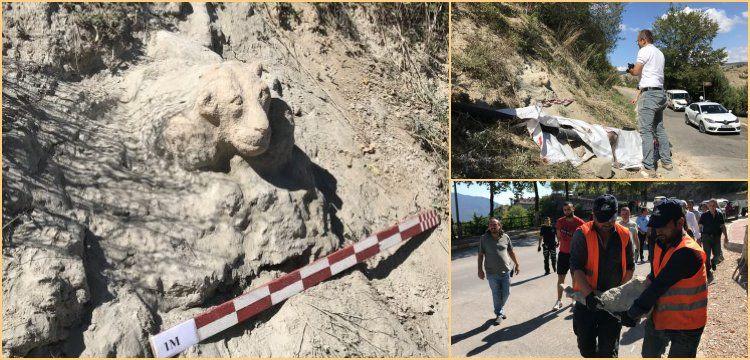 Tarihi eser sanılan aslan heykelini yontan sanatçı müzecilere kızdı!