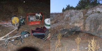 Mağarada altın dolu lahit arayan defineciler yakalandı