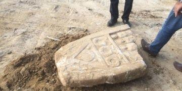 İnegölde İmam Hatip yapılacak arazide tarihi stel bulundu