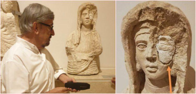 Gaziantep Arkeoloji Müzesi'ndeki tek gözü 'taşlı' kadın büstü şaşırttı