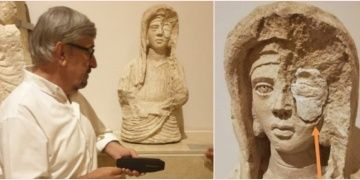 Gaziantep Arkeoloji Müzesindeki tek gözü taşlı kadın büstü şaşırttı