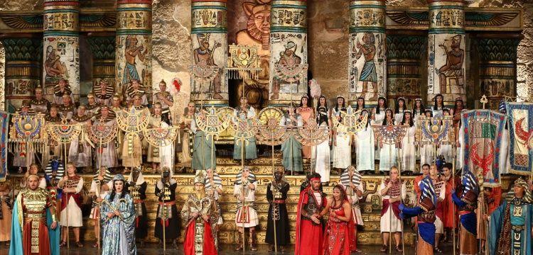 Aida Operası Aspendos Antik Tiyatroda sahnelendi
