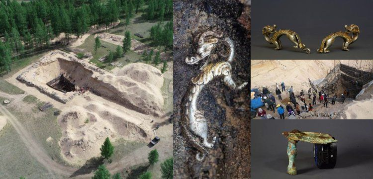 Moğolistan'daki ilginç Hun mezarından gümüş ejderhalar çıktı