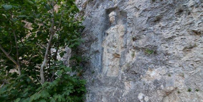 Anadolunun en büyük Kybele kabartması Çorumda İncesu Kanyonunda