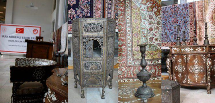 Cilvegözü'nde yakalanan tarihi eserler Irak'a iade edildi