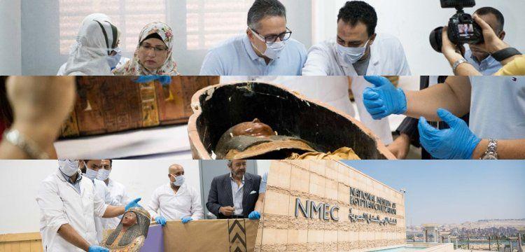 Mısır'da 2 mumya meraklı gözler önünde açıldı