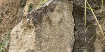 3000-year-old bas-relief found in Kermanshah city of Iran