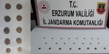 Erzurumda Bizans dönemine ait görünen 23 altın sikke yakalandı