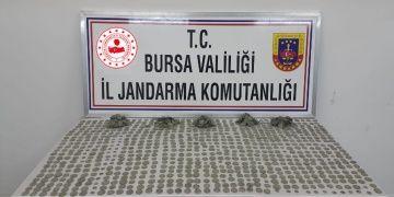 Bursada 3 kişi 1496 adet sikke ile birlikte yakalandı
