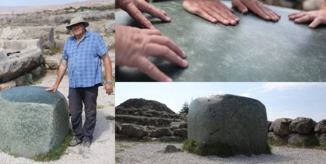 Hattuşa Antik Kentindeki Yeşil Kayanın gizemini çözmek imkansız