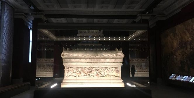 İstanbul Arkeoloji Müzelerinin tadilatı biten kısmı ziyarete açıldı