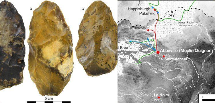 Fransa'da 650 bin yıllık taş baltalar bulundu