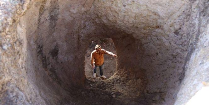Ürgüpün Zindan Tepesi ziyaretçilerine ürpetici manzaralar sunuyor