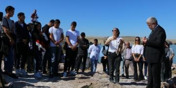 Arkeoloji öğrencileri eğitim yılına Güvercinkayası Höyüğünde başladı