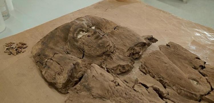 Firavunun kızının ahşap lahite işlenmiş 4 bin yıllık yüzü ortaya çıkarıldı
