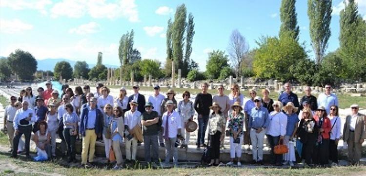Afrodisas antik kenti ünlü işadamlarını ağırladı