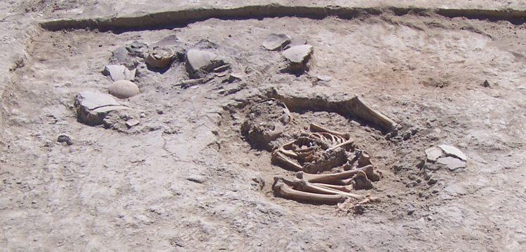 Malatya'da ev içine gömülmüş 5700 yıllık çocuk iskeleti bulundu