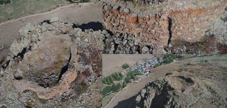 Erzurum'da yaklaşık 3 bin yıllık tarihi kale kalıntısı keşfedildi
