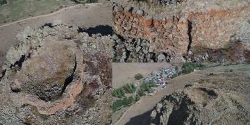 Erzurumda yaklaşık 3 bin yıllık tarihi kale kalıntısı keşfedildi