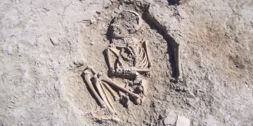 5700-year-old child skeleton found in Arslantepe