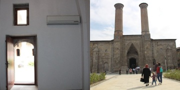 Çifte Minareye restorasyon sırasında 30a yakın klima takılmış