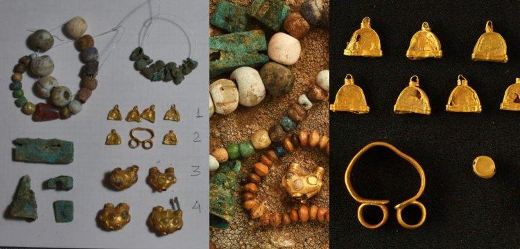 Türkistan'daki Kültepe'de haç şeklinde kale ve mücevherler bulundu